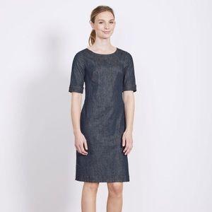 Boden Freya Denim Shift Sheath Dress - Size 8 Long
